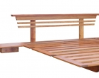 Ninja with Sono Headboard Bedframe in New Guinea Rosewood
