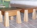 Custom design angled legs and top side table in Tasmanian Oak