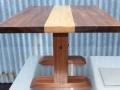 Custom Designed low dining table in Tasmanian Blackwood